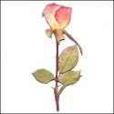 Small Rose with stem Light Pink