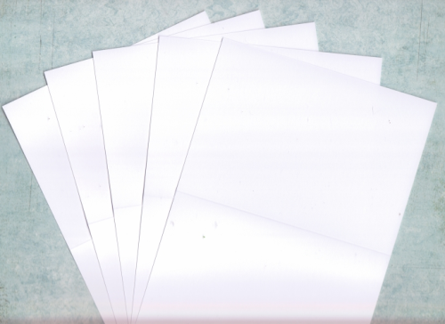 "50 White 5"" x 5"" Square Card Blanks"