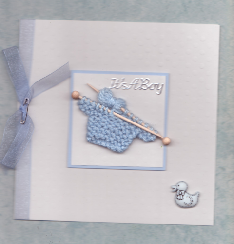 NB9 Baby Boy Card Knitted Jumper