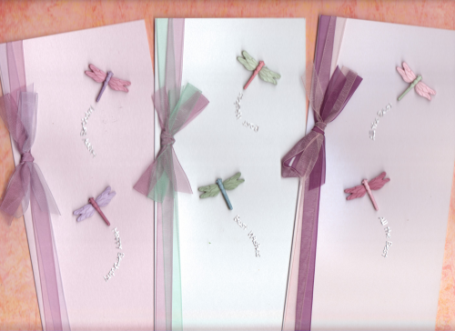 Handmade Cards 3 Dragonfly Cards