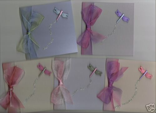 Handmade Cards 5 Small Dragonfly Cards