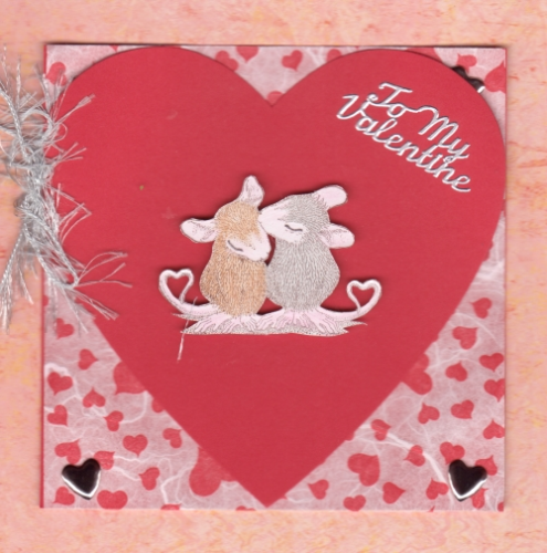 Handmade Valentine Card Tails of True Love