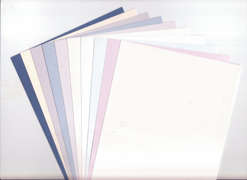 10 Small DL Irridescent/Pearlescent Cards Blanks