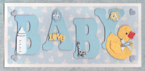 Handmade New Baby Boy Card Baby Blue