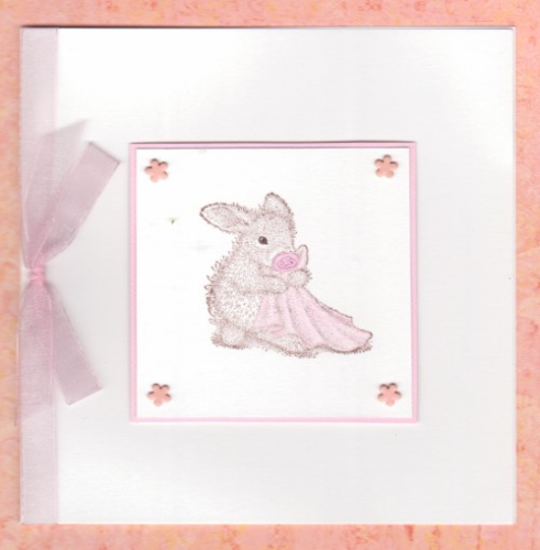 NB14 Baby Girl Card - Blankey