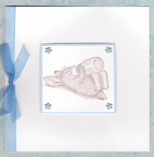 NB30 Baby Boy Card Sleepyhead