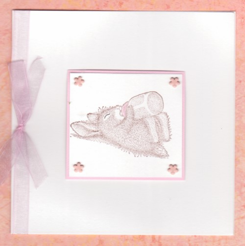 NB31 Baby Girl Card - Sleepyhead