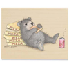 "Gruffies Rubber Stamp - "" Bear of an Appetite"""