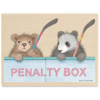 "Gruffies Rubber Stamp - "" Penalty Box"""