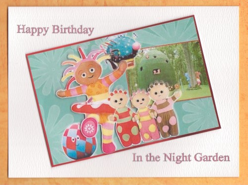 Handmade In the Night Garden Card