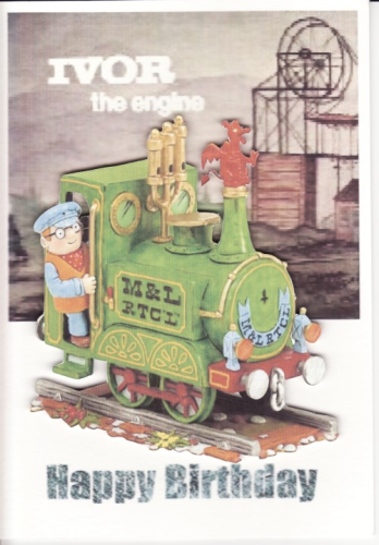 Handmade Ivor the Engine Card