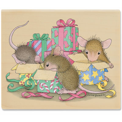 Mice-ly Opening Presents