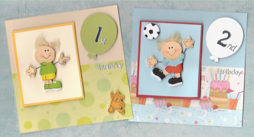 HB1-HB6 Wooden Toddler Boy Card Ages 1 - 6