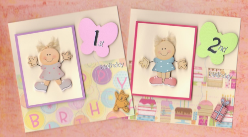 HB7 - HB12 Wooden Toddler Girl Card Ages 1 - 6