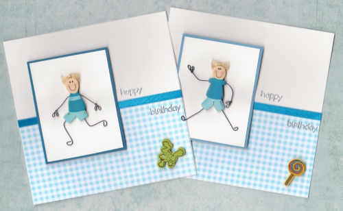 HB15 Wooden Boy Card
