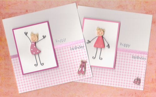 HB16 Wooden Girl Card