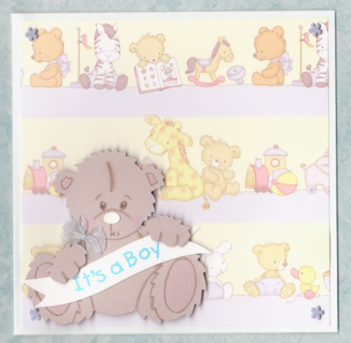 NB26 Baby Boy Card Tatty Teddy - It's a Boy