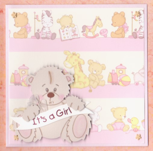 NB25 Baby Girl Card - Tatty Teddy