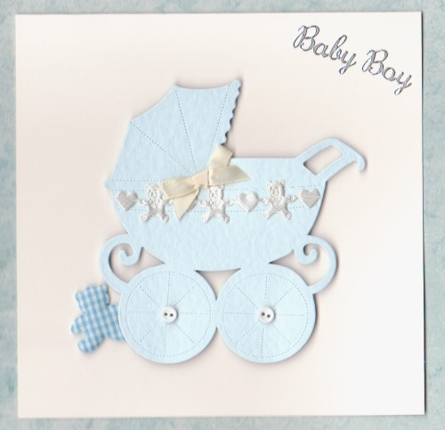 NB24 Baby Boy Card Pram