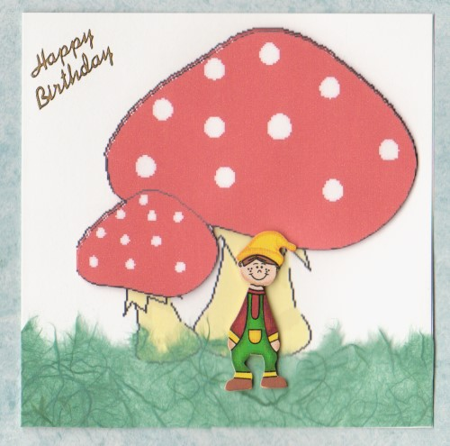HB46 Red Toadstool Pixie