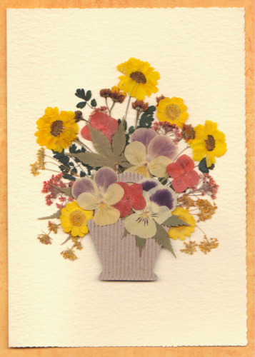 Handmade Birthday Card - Autumn Basket