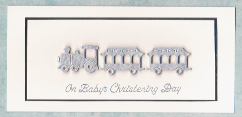 Handmade Christening Cards CD1 Christening Day Train