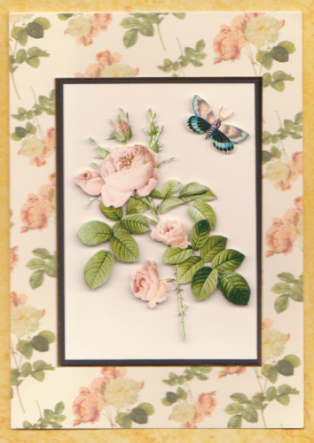 Handmade Card Redoute Rose Pale Pink