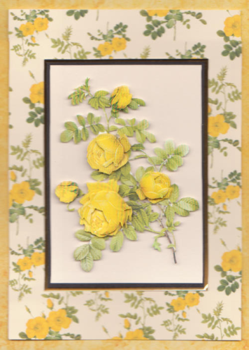 Handmade Card Redoute Rose Yellow