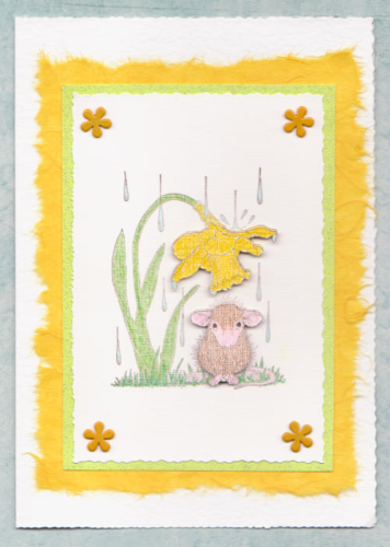 Handmade Birthday Card Gentle Spring Rain