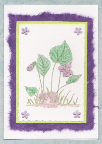 Handmade Birthday Card Sleeping Under Flowers