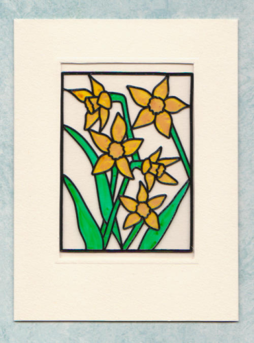 HB35 Stained Glass Daffodils