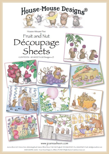 House Mouse Decoupage - Fruit & Nut
