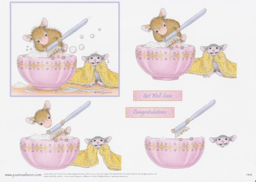 House Mouse Decoupage - Bathtime 1