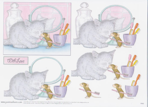 House Mouse Decoupage - Bathtime 3