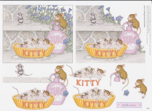 House Mouse Decoupage - Bathtime 6