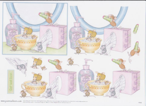 House Mouse Decoupage - Bathtime 8