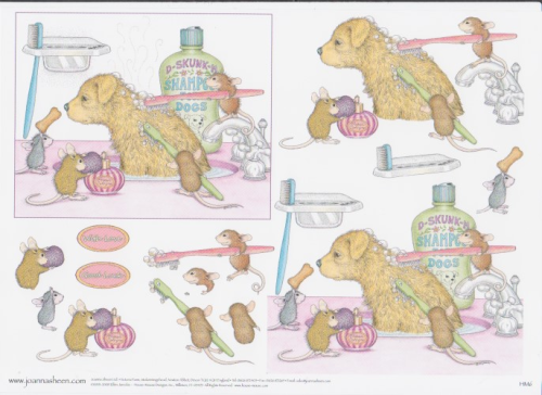 House Mouse Decoupage - Bathtime 9