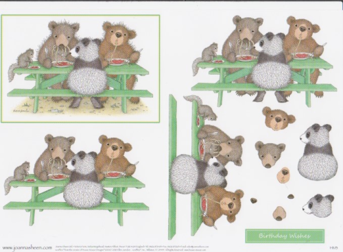 House Mouse Decoupage - Beary Good Times 6