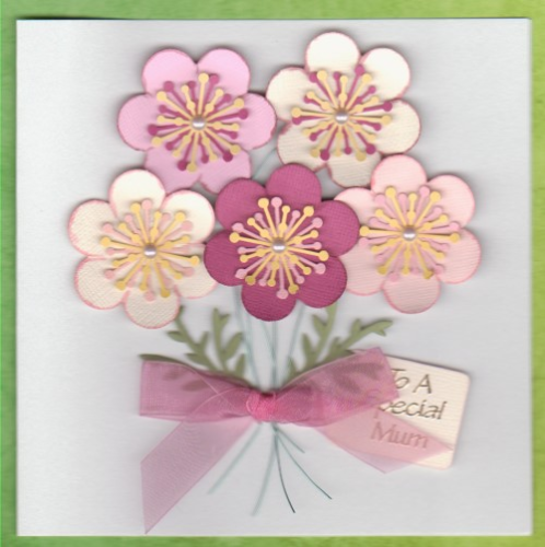 Handmade Birthday Card - Bunch of Hellebores