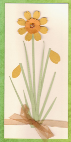 Handmade Birthday Card - Daffodils