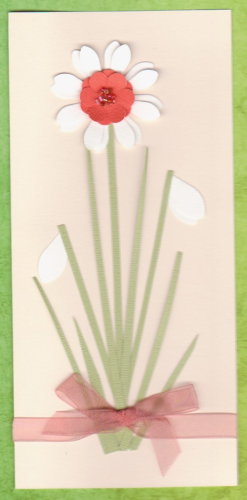 Handmade Birthday Card Narcissi