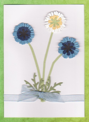 Handmade Birthday Card - Cornflowers