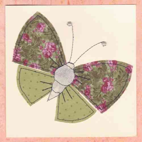 HB167, HB168 Handmade Birthday Card - Patchwork Butterfly