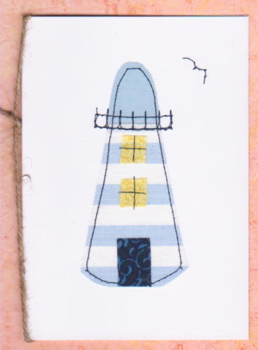 Handmade Card - Patchwork Lighthouse Small