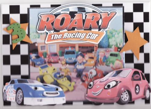 Handmade Roary The Racing Car Card