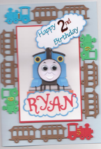Handmade Thomas The Tank Card