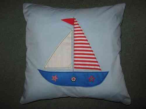 Handmade Cushion - Sailing Boat