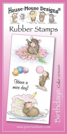 House Mouse Design Unmounted Rubber Stamp Set Birthdays - Cake