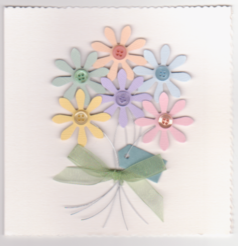 HB100-HB101 Handmade Birthday Card - Daisy Bouquet