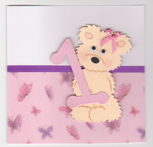 HB78-HB83 Birthday Bear - Girl